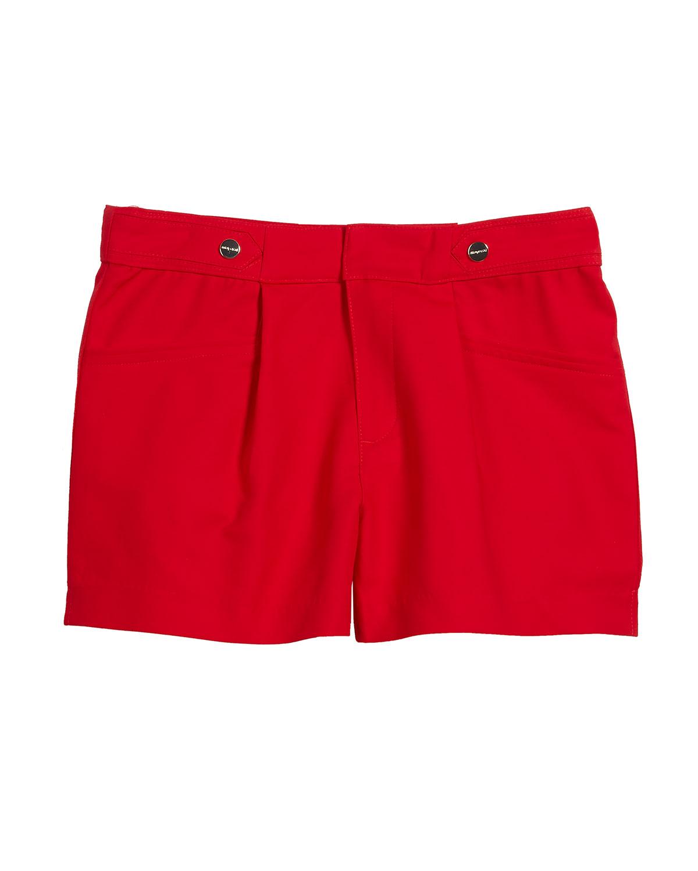 Sateen Poplin Pleated Shorts Size 816