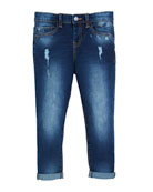 Distressed Regular-Fit Jeans, Size 4-7