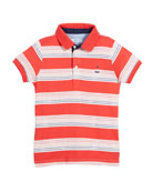 Short-Sleeve Multi-Stripe Polo, Size 4-7