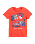 Ready to Sail Printed Short-Sleeve T-Shirt, Size 3-7