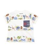 Safari Stripe Short-Sleeve Pocket Tee, Size 6-36 Months