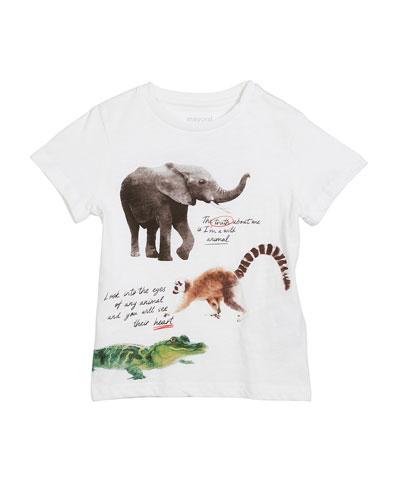 Short-Sleeve Animal Graphic T-Shirt, Size 3-7
