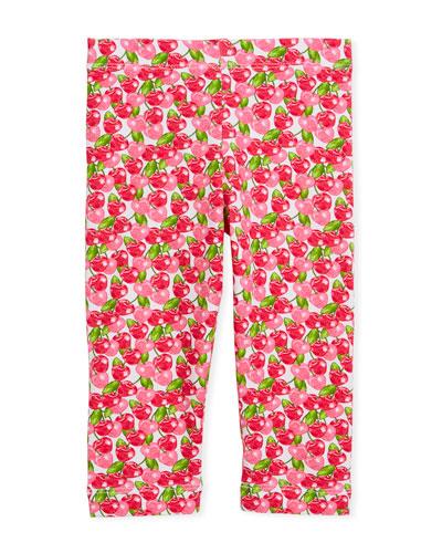 Cherry-Print Leggings, Size 3-7