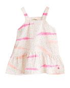 Wave-Print Sun Dress, Size 6-24 Months