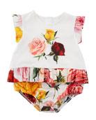 Multi-Rose Print Bubble Bodysuit, Size 3-18 Months