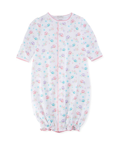 What A Hoot Convertible Pima Gown, Size Newborn-Small