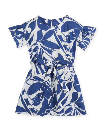 Chandlar Poplin Floral Dress, Size 8-16