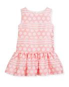 Polka-Dot & Stripe Drop-Waist Sleeveless Dress, Size 5-8