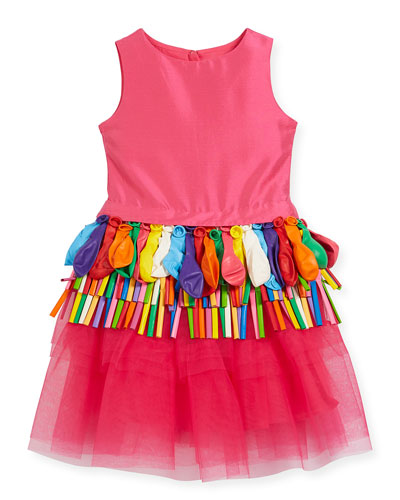 Sleeveless Tulle Balloon Dress, Size 5-8