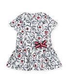 Short-Sleeve Cotton Floral Dress, Size 3-36 Months