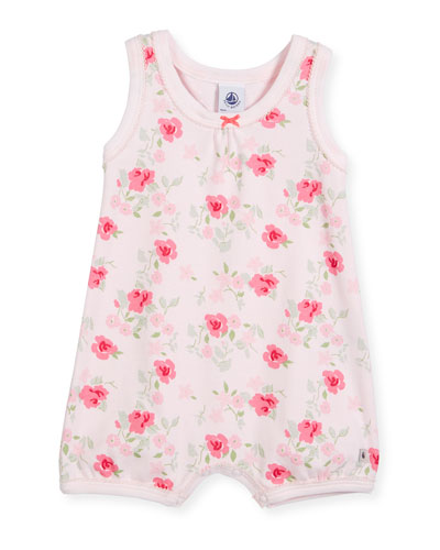 Sleeveless Floral-Print Playsuit, Size Newborn-6 Months