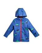 Hooded Dino Rain Coat, Size 3-6