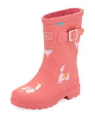 Llama Rubber Rain Boot, Toddler/Kid