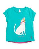Tropi-Cool Cat T-Shirt, Size 3-6