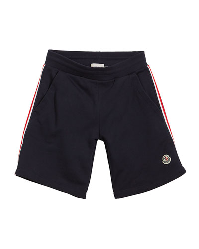 Cotton Sweat Shorts w/ Flag Sides, Size 4-6