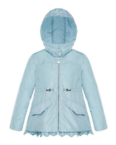 Lotus Wind-Resistant Jacket w/ Eyelet Hem, Size 4-6