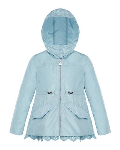 Lotus Wind-Resistant Jacket w/ Eyelet Hem, Size 8-14