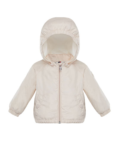 Eustache Wind-Resistant Jacket w/ Removable Hood, Size 12M-3T