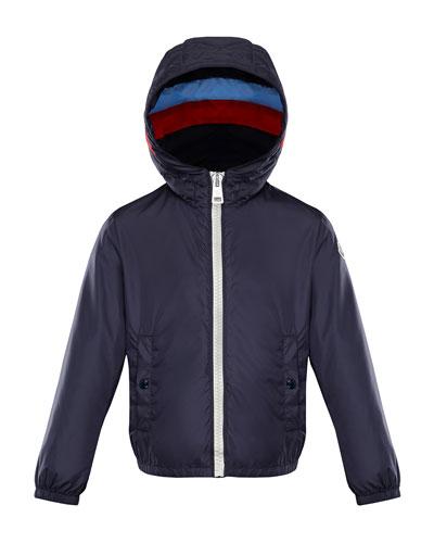 Camarsac Lightweight Down Jacket w/ Colorblock Hood, Size 4-6
