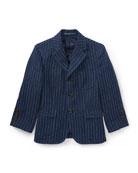 Linen Princeton Pinstripe Blazer, Size 2-3