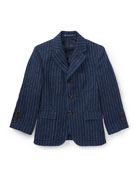 Linen Princeton Pinstripe Blazer, Size 4-7