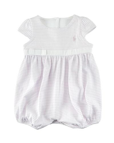 Jersey Stripe Cap-Sleeve Playsuit, Size 3-18 Months
