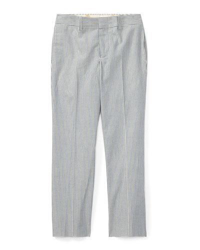 Woodsman Striped Seersucker Pants, Blue, Size 2-3