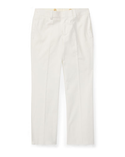 Woodsman Cotton-Stretch Gabardine Pants, White, Size 4-7