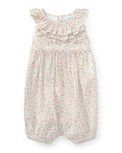 Batiste Floral Ruffle Bubble Playsuit, Pink, Size 3-18 Months