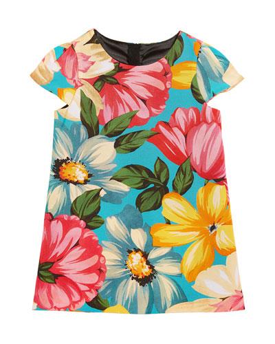 Chloe Floral-Print Dress, Size 4-7