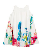 Border Floral Swing Dress, Size 2-6