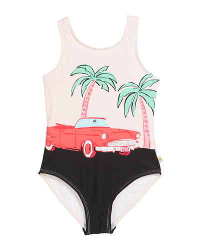 road trip one-piece swimsuit, size 2-6x