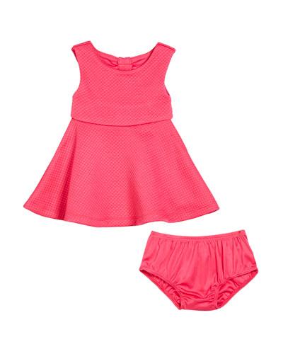 vivian cutout-back dress w/ bloomers, size 12-24 months
