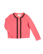 lace-trim knit cardigan, size 2-6x