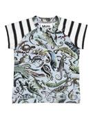 Egon Entangled Contrast T-Shirt, Size 6-24 Months