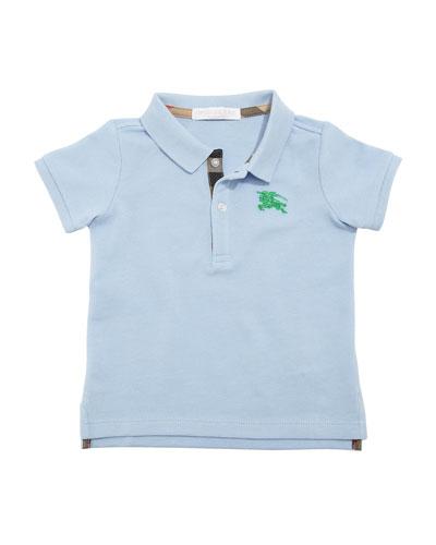 Palmer Short-Sleeve Polo Shirt, Blue, Size 6M-3Y