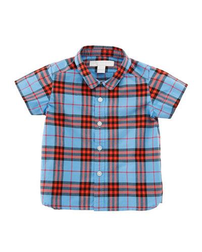 Clarkey Check Button-Down Shirt, Size 6M-3