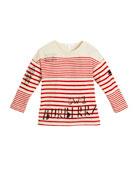 Stripe & Scribble Long-Sleeve Shirt, Size 4-14