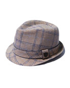 Boys' Plaid Fedora Hat