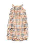 Marissan Check Shirt w/ Matching Shorts, Size 3-24 Months