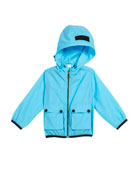 Hurst Hooded Rain Jacket, Size 12M-3