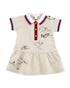 Calin Polo Graffiti-Print Dress, Size 6M-3