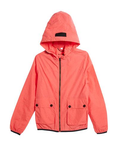 Hurst Hooded Rain Jacket, Size 4-14