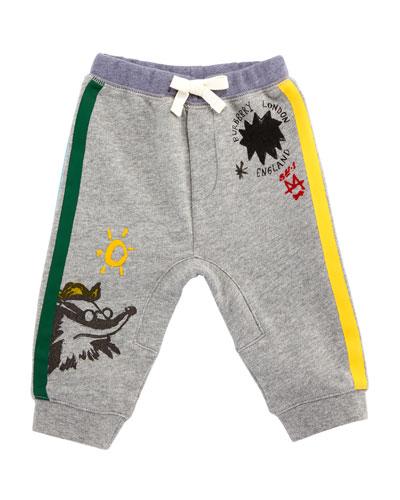 Badger Printed Jersey Jogger Pants, Size 6M-3