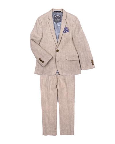 Boys' Khaki Mod Two-Piece Suit, Size 2-14