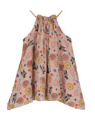 Handkerchief-Hem Halter Swing Dress, Size 2-6