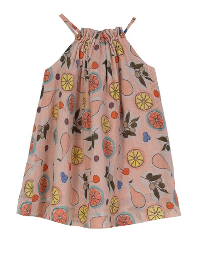 Pleated Halter Swing Dress, Size 3-24 Months