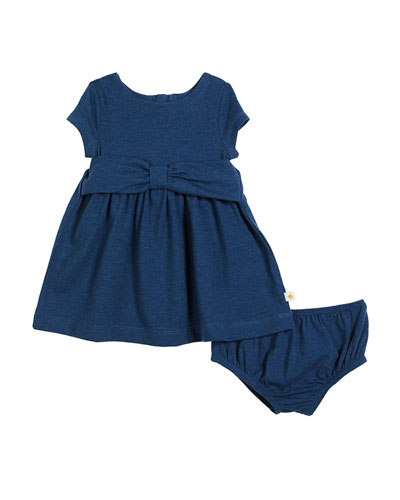kammy heathered jersey bow dress w/ bloomers, size 12-24 months