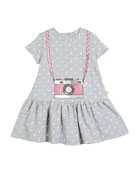 polka-dot camera dress, size 2-6x