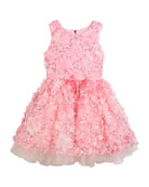 3D Flower Party Dress, Size 2-6X